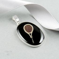 wisior,rakieta tenisowa,rakieta squash,steampunk - Wisiory - Biżuteria