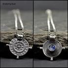 Naszyjniki naszyjnik srebrna mandala,kamień księżycowy