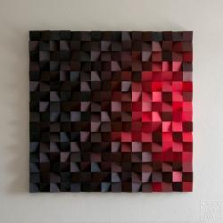 mozaika,piekło,kolor,drewno,rękodzieło - Ilustracje, rysunki, fotografia - Wyposażenie wnętrz