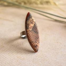 pierścionek,pierścionek z żywicy i drewna - Pierścionki - Biżuteria