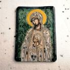Ceramika i szkło Beata Kmieć,ikona ceramiczna,Maryja,Fatimska