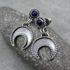 Kolczyki lunula,delikatne,słowiańskie,talizman,symbol