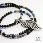 Naszyjniki naszyjnik ze skrzydłem anioła,koraliki na szyję