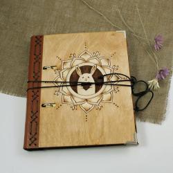królik,serce,mandala,notatnik,szkicownik - Notesy - Akcesoria