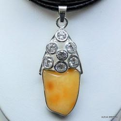 bursztyn,srebro,biżuteria z bursztynem,wisior - Naszyjniki - Biżuteria