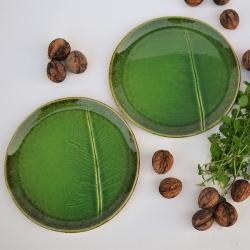 ceramika ręcznie robiona,liść ceramiczny,talerz, - Ceramika i szkło - Wyposażenie wnętrz