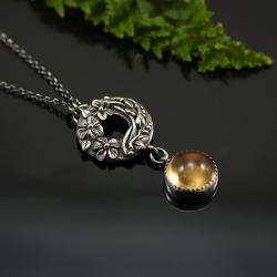 srebrny naszyjnik,ręcznie wykonany,unikatowy - Naszyjniki - Biżuteria