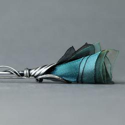 broszka z oksydowanego srebra,agrafka - Broszki - Biżuteria