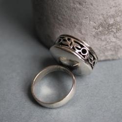 pierścionek srebro antyk - Pierścionki - Biżuteria