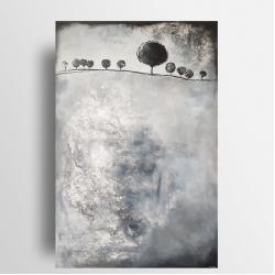 obraz,abstrakcja,drzewa - Obrazy - Wyposażenie wnętrz