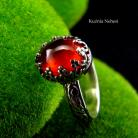 Pierścionki nehesi,pierścień,pierscionek,srebrny,granatem