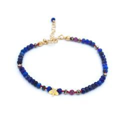bransoletka,rubin,lapis lazuli,gwiazdka - Bransoletki - Biżuteria