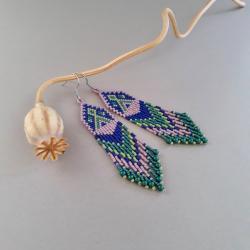 kolczyki indiańskie,kolorowe - Kolczyki - Biżuteria