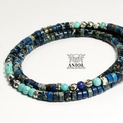 naszynik,koraliki na szyję,męska biżuteria - Naszyjniki - Biżuteria