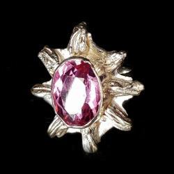aleksandryt,blask,jesienny,surowy,srebrny,różowy - Pierścionki - Biżuteria