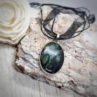 Naszyjniki jaspis,zielony kamień,wisior z zielonym kamienie