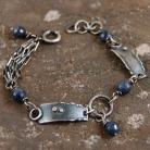 Bransoletki srebrna bransoleta z szafirami