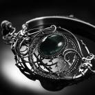 Bransoletki srebrna,bransoletka,apatyt,księżyc,ciba,mroczna