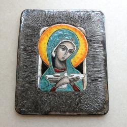 Beata Kmieć,ikona ceramiczna,Maryja,Pneumatofor - Ceramika i szkło - Wyposażenie wnętrz
