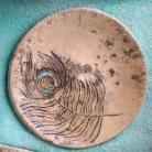 Ceramika i szkło patera ceramiczna,patera,talerz,pawie pioro
