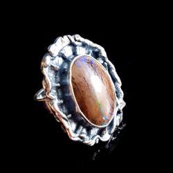 pierścień australijski boulder opal,duży,okazały - Pierścionki - Biżuteria