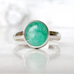 pierścionek ze szmaragdem,szmaragd, - Pierścionki - Biżuteria