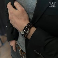 bransoleta męska z czaszką,surowa biżuteria - Dla mężczyzn - Biżuteria