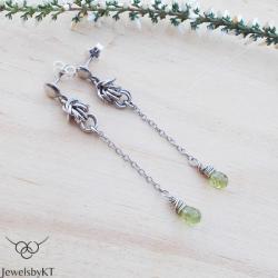 srebro,nowczesne,chainmalle,długie kolczyki, - Kolczyki - Biżuteria