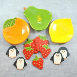 miseczki,magnesy,owoce - Ceramika i szkło - Wyposażenie wnętrz