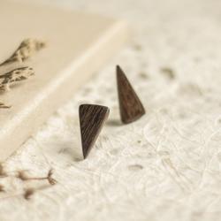 drewniane kolczyki,kolczyki z drewna,heban - Kolczyki - Biżuteria