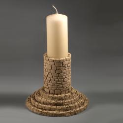 lampion,świecznik,ceramika,rękodzieło - Świeczniki - Wyposażenie wnętrz