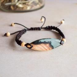 biżuteria z drewna i żywicy,bransoletka - Bransoletki - Biżuteria