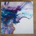 Obrazy pouring,abstrakcja,nowoczesny,turkus,akryl