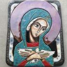 Ceramika i szkło Beata Kmieć,ikona ceramiczna,Maryja,Pneumatofora