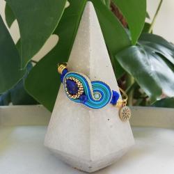 bransoletka,bangle,sutasz,lapis,lazuli,lato - Bransoletki - Biżuteria