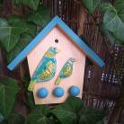Inne klucze,wieszak na klucze,ptaki,drewno,ceramika
