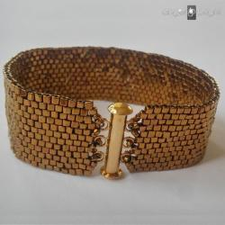 Bransoletka Złoty Pasek - zapięcie na magnes - Bransoletki - Biżuteria
