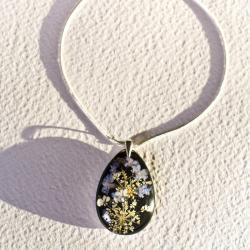 naszyjnik z żywicy,biżuteria z żywicy,srebro - Naszyjniki - Biżuteria