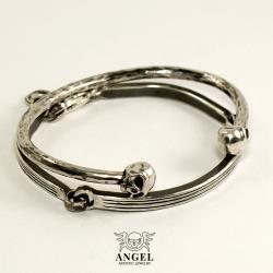 srebrna bransoleta męska,minimalistyczna - Dla mężczyzn - Biżuteria